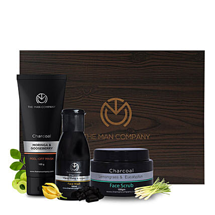 Charcol Face Care Kit for Men:Cosmetics & Spa Hampers