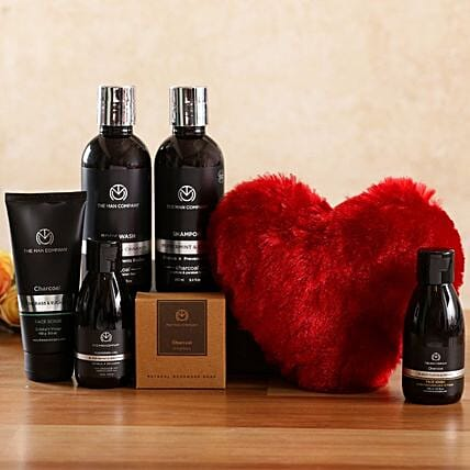 The Man Company Charcoal Kit Big Red Heart