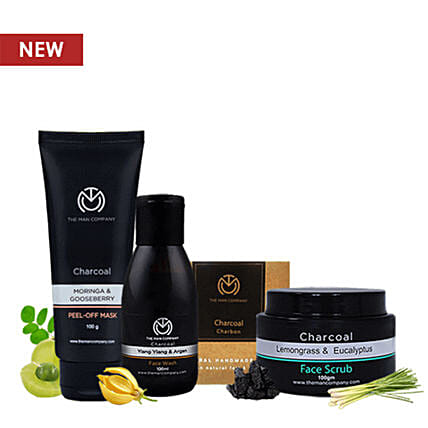 Charcoal Grooming Power Pack:Gift Hampers for anniversary