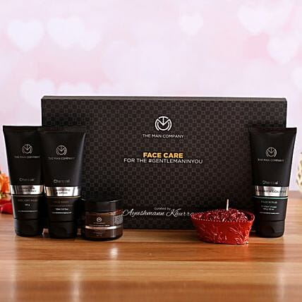 The Man Company Face Care Kit Heart Candle