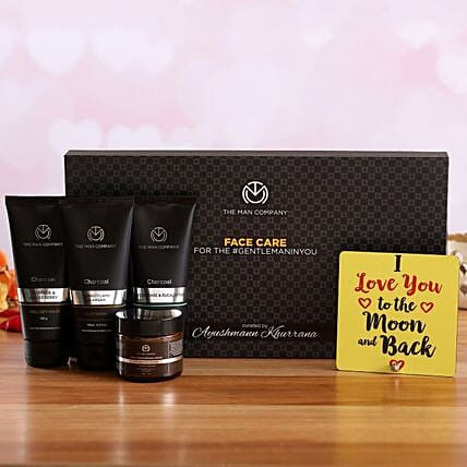 The Man Company Face Care Kit Love Quote Table Top