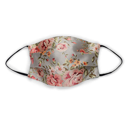 THOT Vintage Floral Face Mask :Accessories