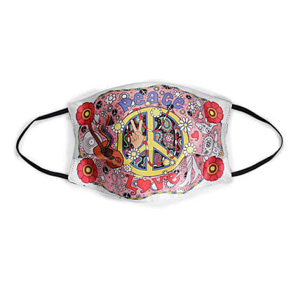 Online Yellow Peace Face Mask