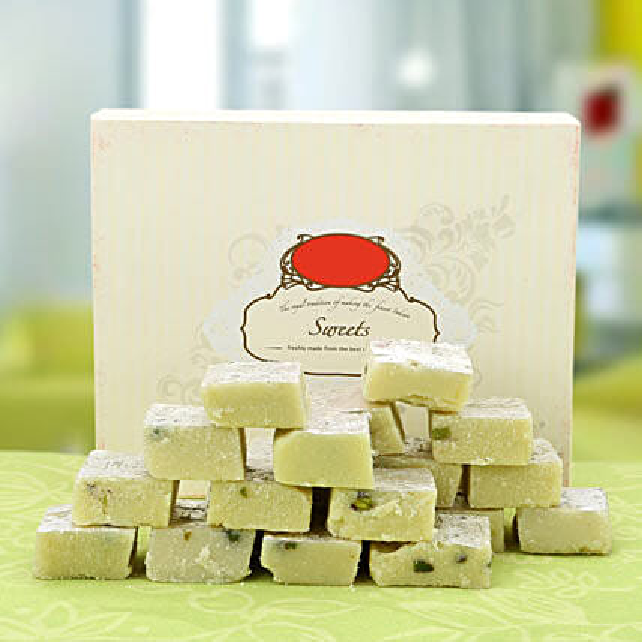 Time to Celebrate-500gms Pista Burfi:Send Sweets to Dehradun