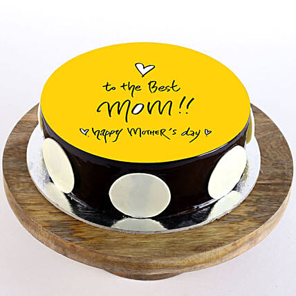 Happy mothers day cake:Eggless cakes for Mother's Day