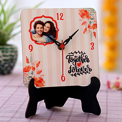 Together Forever Personalised Table Clock- Hand Delivery