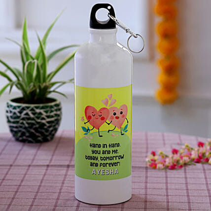 personalised water bottle for karwa chauth
