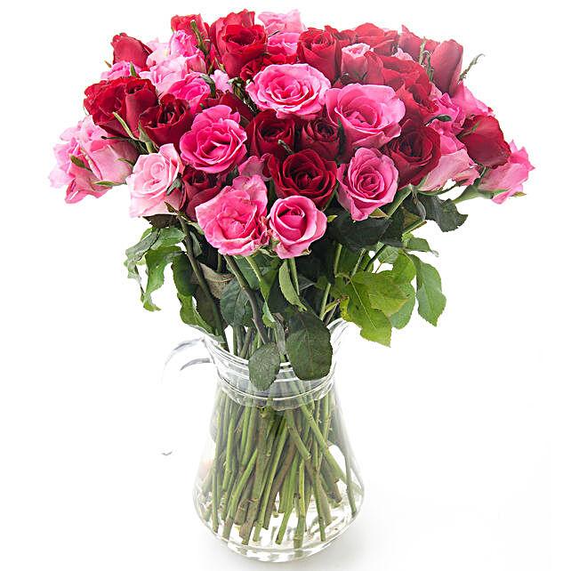 Touch Of Rosy Grace Floral Arrangement