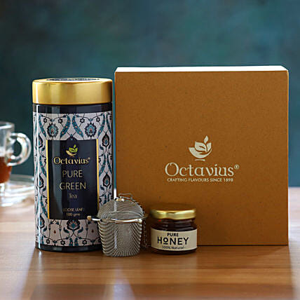 Traditional Detox Kashmiri Kahwa Tea Gift Box:Gift Hampers for anniversary