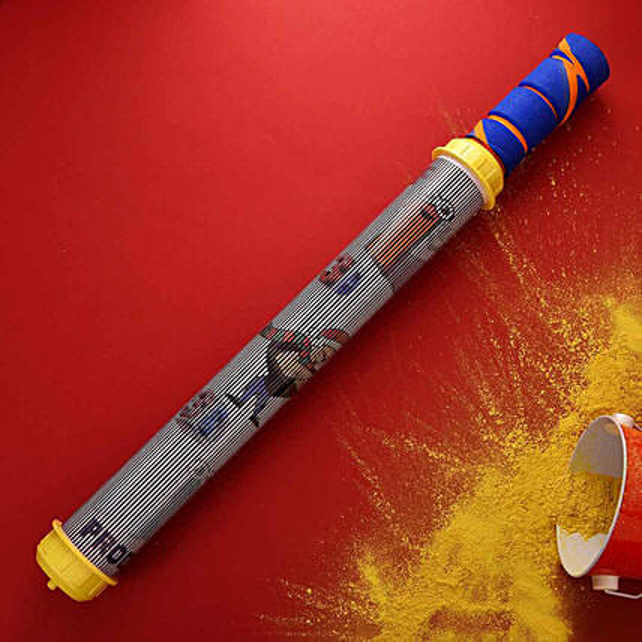 Traditional Grey And Orange Water Gun:Pichkaris