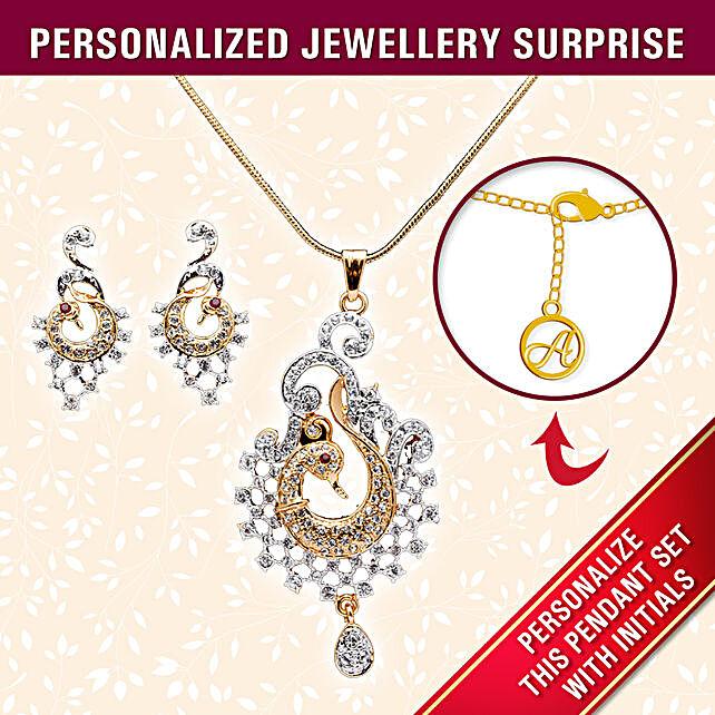 quality personalised pendant set online:Personalised Jewellery