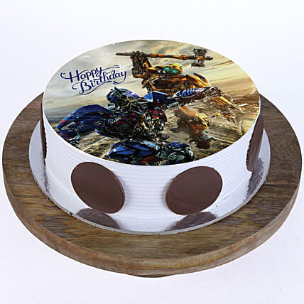Online Transformers Photo Cake For Kids