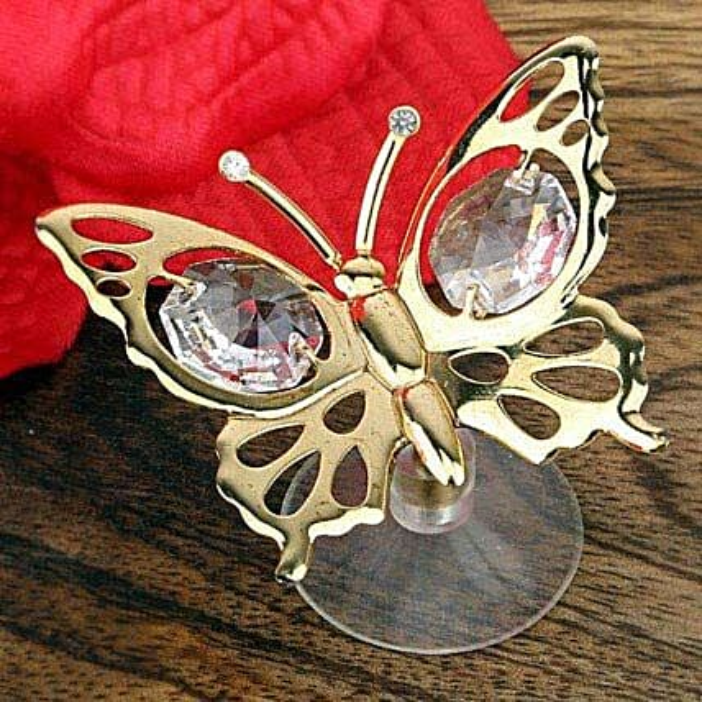 Swarovski golden butterfly
