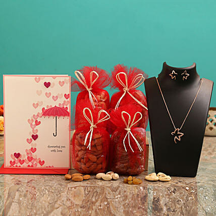 Valentine's Day Combo for Wife:Send Valentines Day Greeting Cards