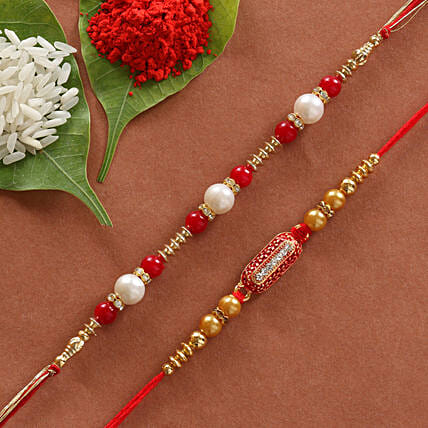 online set of designer rakhi:Rakhi Gifts to Chittoor