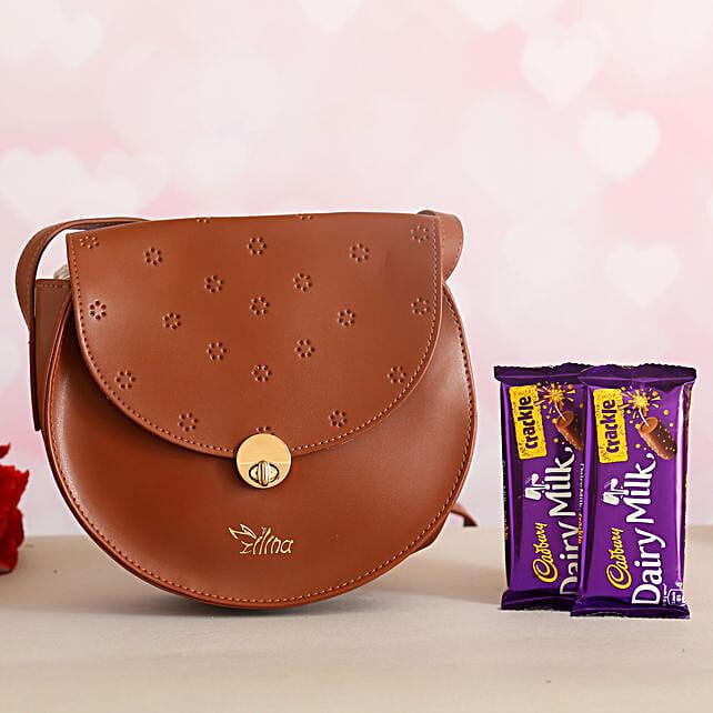 Trendy Sling Bag Cadbury Crackle