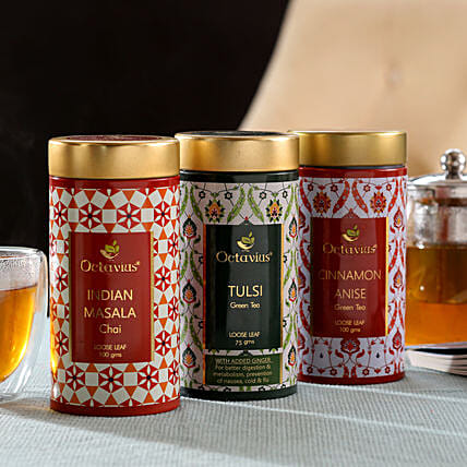 Premium Tea Box  Hamper Online:Tea Gift Hampers