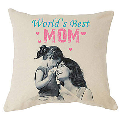 My Mom-Best Mom 12X12 inches Customized printed cushion