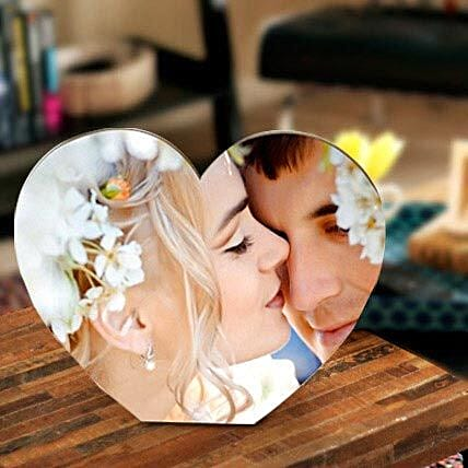Heart shape personalize frame-135x165 mm Heart shape personalize frame:Table tops Gifts