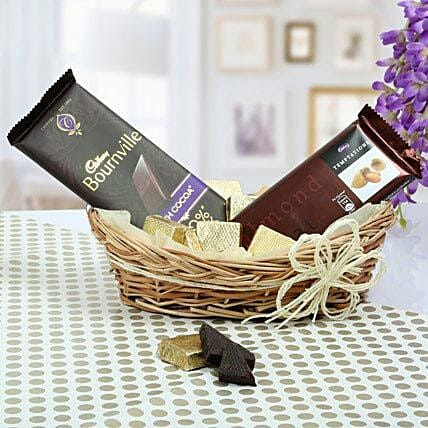 Chocolate Basket Gifts:Diwali Gift Basket Ideas