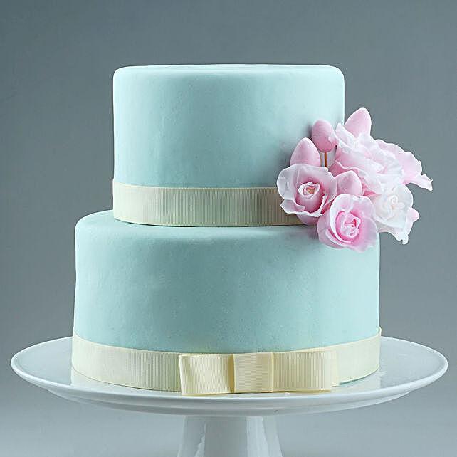 Two Tier Floral Designer Truffles Cake 2.5 Kg