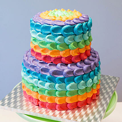 Rainbow Cake For Kids Online:3 Tier Cake