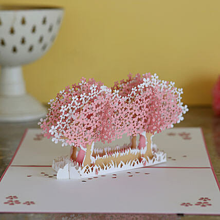 Two Trees Pop Up 3D Greeting Card
