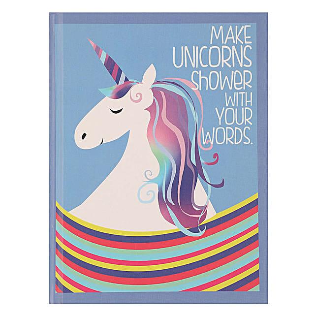 Online Unicorn Hardcase Notebook