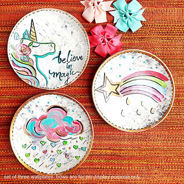 Set of 3 Wall Plates