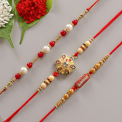 Creative 3 set of rakhi online:Send Rakhi to Chittoor