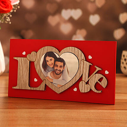 vday theme personalised frame