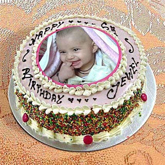 2kg Photo Cake Vanilla Sponge by FNP