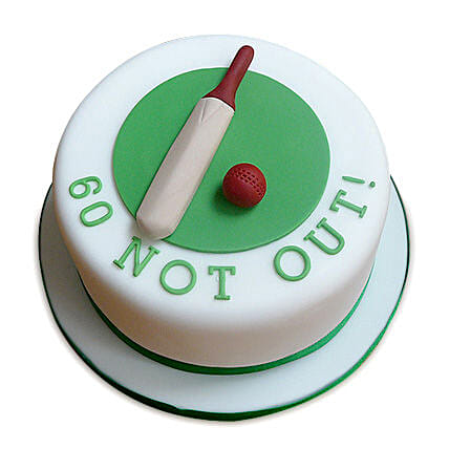 60 Not Out Designer Cake 2kg Butterscotch