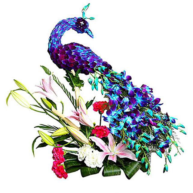 Adorable & Charming Peacock:Anniversary Gifts for Bhaiya Bhabhi
