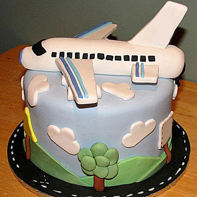 Airplane Fondant Cake 5kg Eggless Truffle
