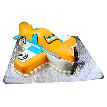 Animated Airplane Cake 4kg Butterscotch