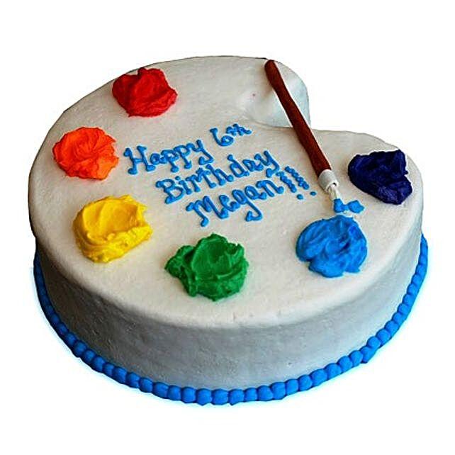Astonishing Artist Birthday Cake 3Kg Eggless Vanilla Gift Artist Birthday Cake Funny Birthday Cards Online Hetedamsfinfo