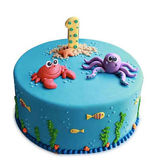 Baby Sea Animals Cake 2kg Eggless Chocolate