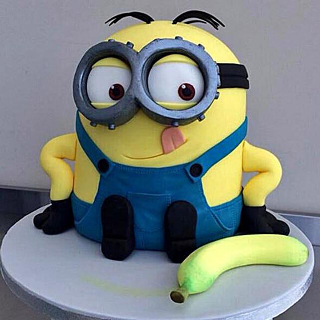 Banana N Bob Minion Cake 2kg Chocolate