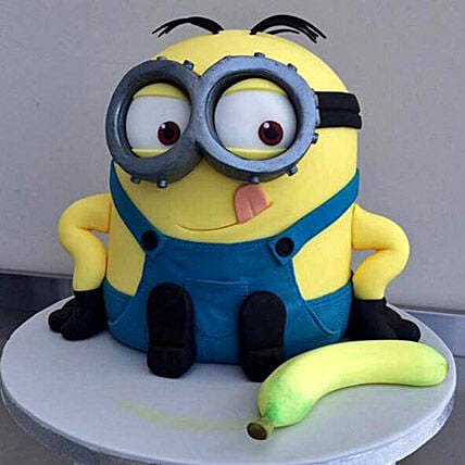 Banana N Bob Minion Cake 3kg Chocolate Eggless