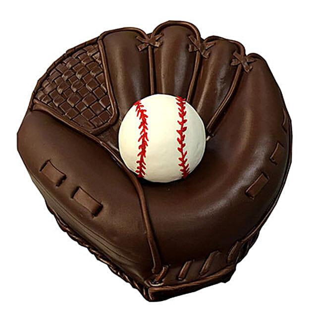 Baseball Special Fondant Cake Truffle 3kg Eggless