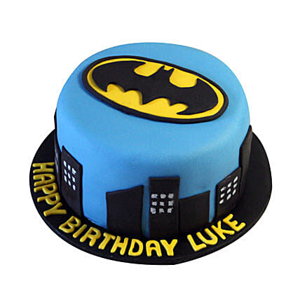 Batman N Gotham City Cake 1kg Eggless