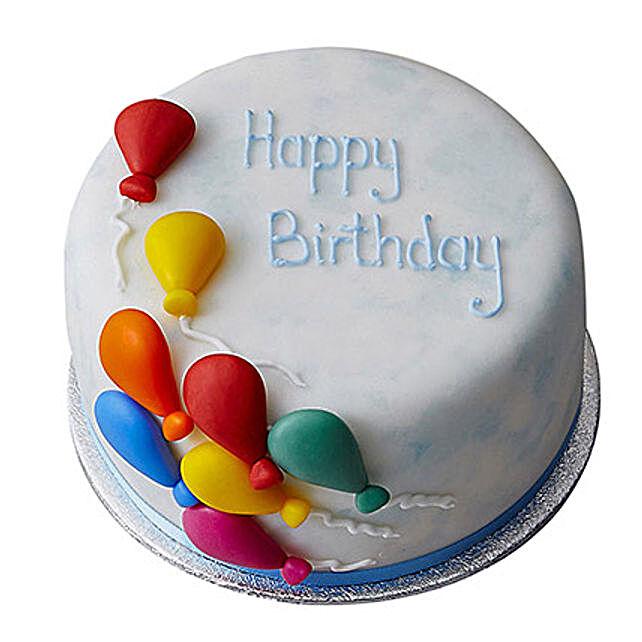 Birthday Balloon Fondant Cake Truffle 2kg