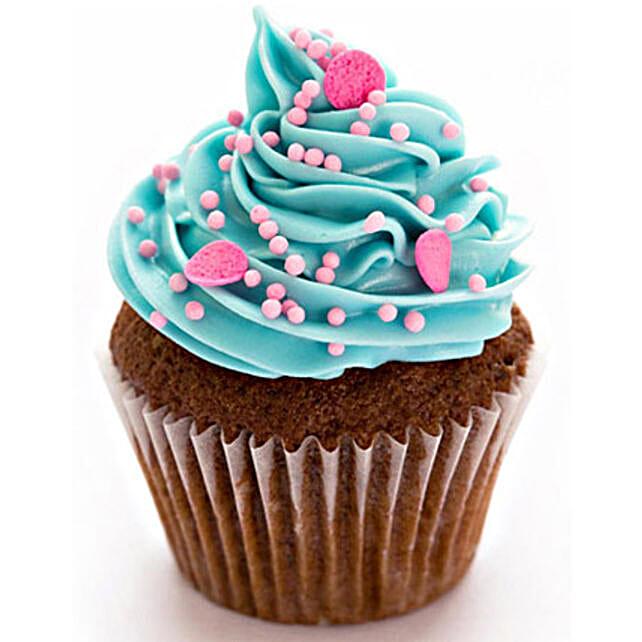 Blue Pink Fantasy Cupcakes 24 Eggless