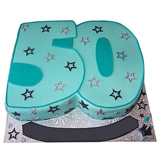 Blue Star Cake 4kg Eggless Black Forest