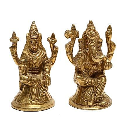 Brass Lakshmi Ganesha Idol By FNP