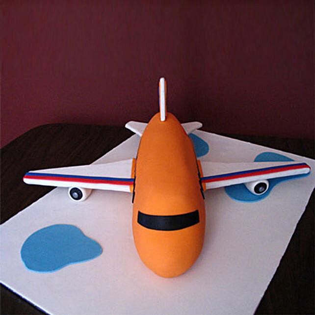 Bright Airplane Cake 2kg Black Forest