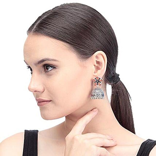 Brown Artificial Stone Earrings