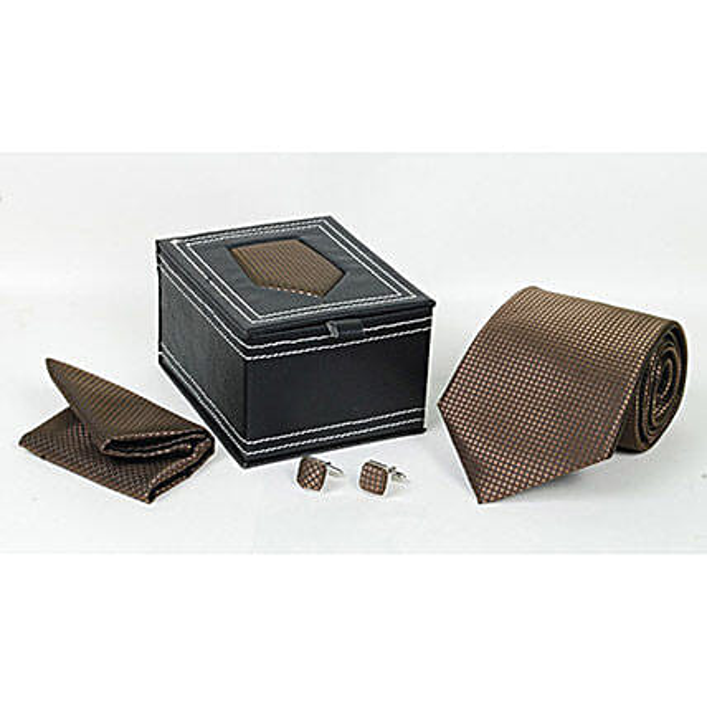 Brown Tie Set