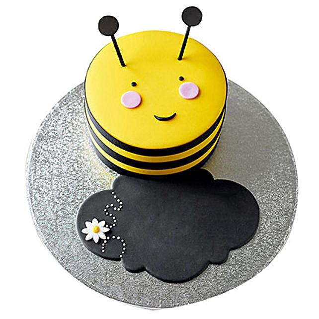 Bumble Bee Fondant Cake Black Forest 1kg Eggless